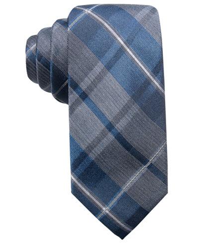 Ryan Seacrest Distinction™ Men's Timberlake Plaid Slim Silk Tie, Created for Macy's