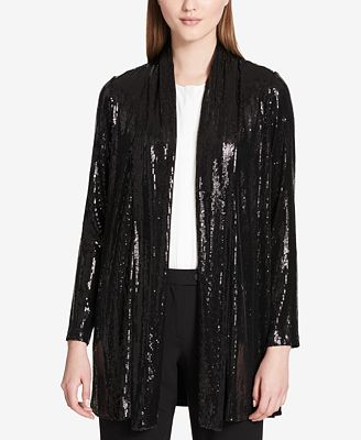 Calvin Klein Sequined Draped Jacket