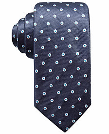 Ryan Seacrest Distinction™ Men's Derulo Dot Slim Silk Tie, Created for Macy's