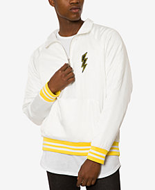 Jaywalker Men's Satin Quarter Zip Varsity Jacket