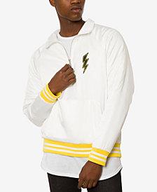 Jaywalker Men's Satin Quarter Zip Varsity Jacket
