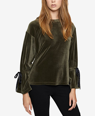 Sanctuary Velvet Bell-Sleeve Top