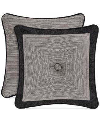 """Raffaella Graphite 18"""" Square Decorative Pillow"""