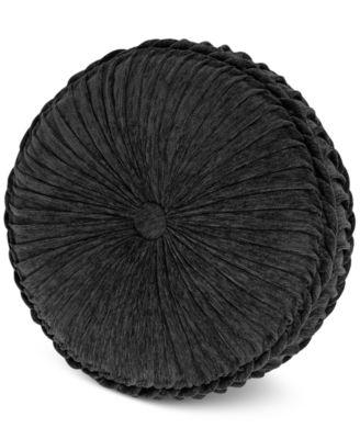 """Raffaella Graphite Tufted Round 15"""" x 4"""" Decorative Pillow"""