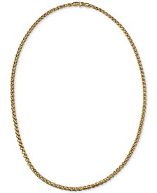 "22"" Wheat Chain Link Necklace in 14k Gold-Plated Sterling Silver, Created for Macy's"