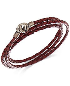 Men's Woven Leather Wrap Bracelet