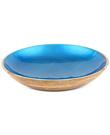 Thirstystone Enamel & Wood Bowl