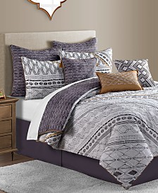 CLOSEOUT! Rhodes Reversible 10-Pc. Geo-Print Comforter Sets