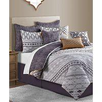 Sunham Rhodes Reversible 10-Pc Geo-Print Full Comforter Set Deals