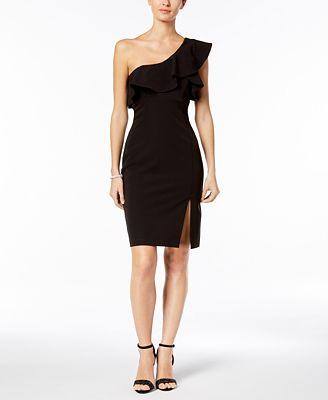 Bardot Ruffled One-Shoulder Dress