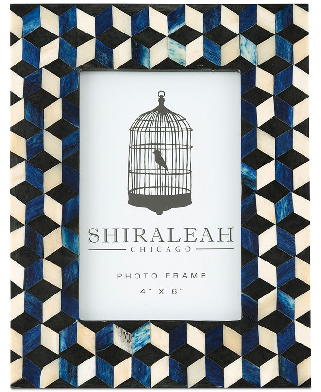 Shiraleah Loft Cube Inlay 4'' x 6'' Picture Frame