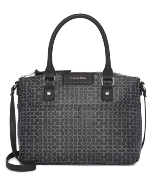 Calvin Klein  HUDSON TOP HANDLE SIGNATURE SATCHEL