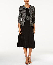 Jessica Howard Petite Metallic Jacket & Dress