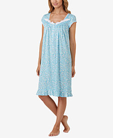 Eileen West Waltz Lace-Trim Nightgown