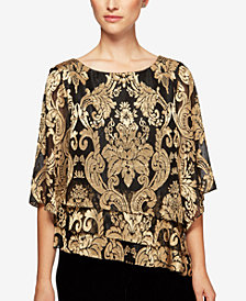Alex Evenings Printed Tiered Top
