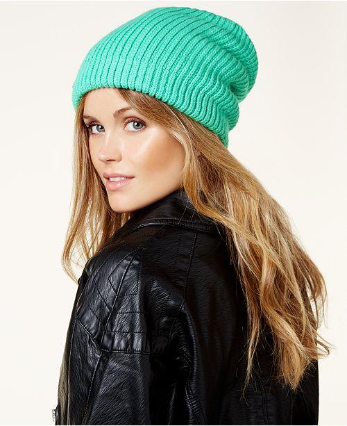 Free People Rib-Knit Slouchy Beanie - Women s Brands - Women - Macy s 1d1e57fdc3c