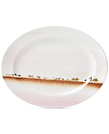 Lenox Watercolor Horizons Microwave Safe Platter, Created for Macy's