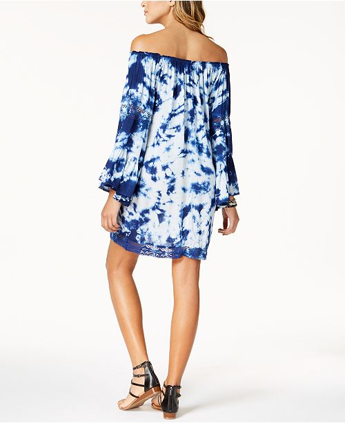 d6519c6452e Raviya Tie-Dyed Off-The-Shoulder Dress Cover-Up   Reviews ...