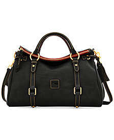 Dooney & Bourke Florentine Vaccheta Pebble Leather Satchel