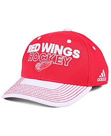 adidas Detroit Red Wings Locker Room Structured Flex Cap