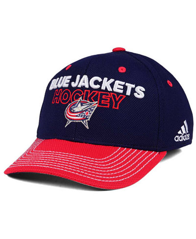 adidas Columbus Blue Jackets Locker Room Structured Flex Cap