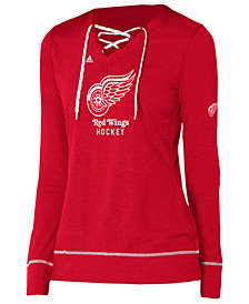 adidas Women's Detroit Red Wings Hockey Stitch Long Sleeve Shirt