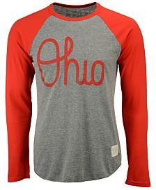 Retro Brand Men's Ohio State Buckeyes Logo Script Raglan T-shirt
