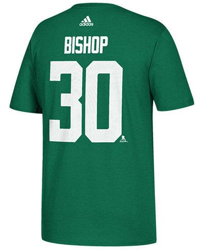 adidas Men's Ben Bishop Dallas Stars Silver Player T-Shirt