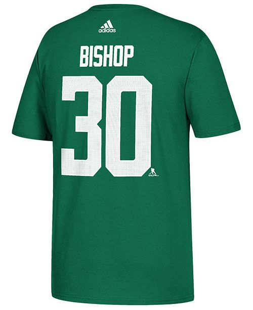 adidas Men's Ben Bishop Dallas Stars Silver Player T-Shirt