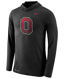 Nike Men's Ohio State Buckeyes Dri-Blend Hooded Long Sleeve T-Shirt