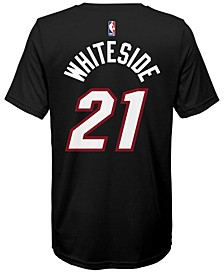Hassan Whiteside Miami Heat Icon Name & Number T-Shirt, Big Boys (8-20)