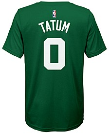 Jayson Tatum Boston Celtics Icon Name & Number T-Shirt, Big Boys (8-20)