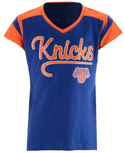 5th & Ocean New York Knicks Contrast Slub T-Shirt, Girls (4-16)