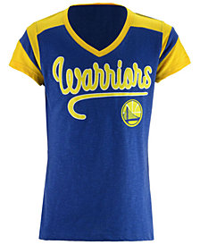5th & Ocean Golden State Warriors Contrast Slub T-Shirt, Girls (4-16)