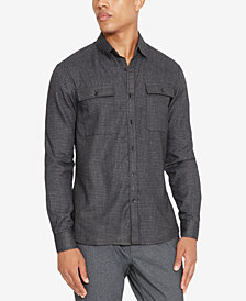 Kenneth Cole Reaction Men's Performance Mini-Check Shirt