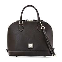 Dooney & Bourke Zip Satchel Saffiano Leather Shoulder Bag Purse Handbag