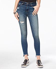 STS Blue Ellie High Rise Step-Hem Deconstructed Skinny Jeans