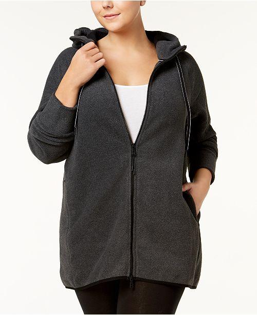 Calvin Klein Plus Size Hooded Logo Jacket