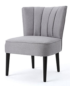 Zaidan Channel Accent Chair, Quick Ship