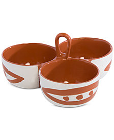 Shiraleah Braga 3 Compartment Snack Dish