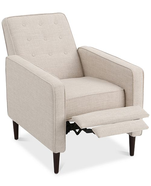 Noble House Wadena Recliner Club Chair, Quick Ship