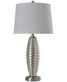 StyleCraft Ribbed Glass Table Lamp
