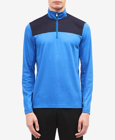 Calvin Klein Men's Colorblocked Quarter-Zip SweatShirt