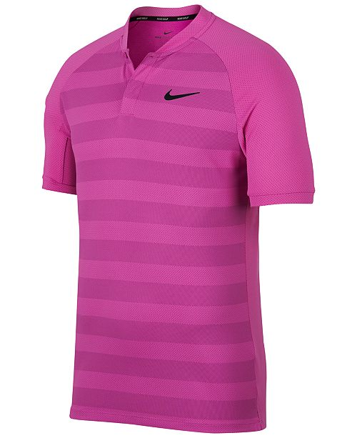 8242557f3f Nike Men's Momentum Zonal Cooling Striped Slim Golf Polo & Reviews ...