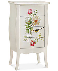 Floral Gardens Tall Chest, Quick Ship