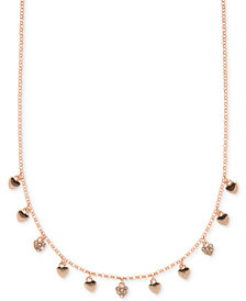 Ivanka Trump Rose Gold-Tone Dangle Heart Collar Necklace