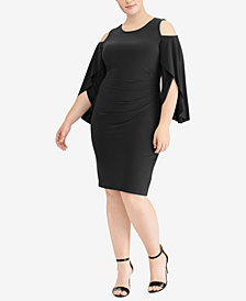 Lauren Ralph Lauren Plus Size Cold-Shoulder Dress
