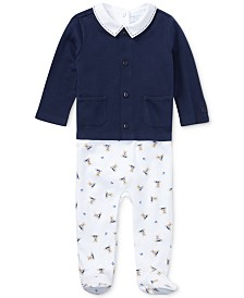 Ralph Lauren Baby Boys Interlock 3-Pc. Cotton Set