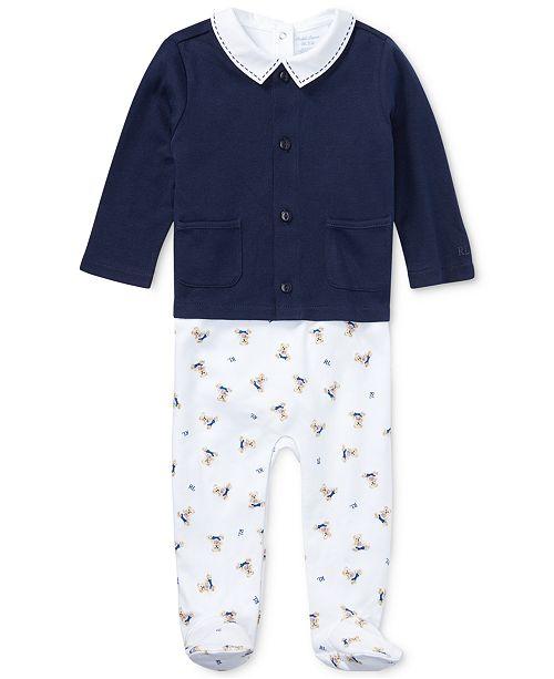 91f059f5e9 Ralph Lauren Baby Boys Interlock 3-Pc. Cotton Set
