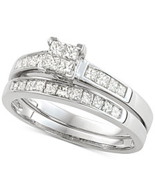 Diamond Princess Bridal Set (3/4 ct. t.w.) in 14k White Gold